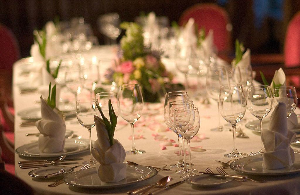 Beispiel: Festgedeck, Foto: Tschuggen Grand Hotel Arosa.
