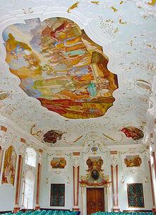 Beispiel: Deckenfresko Josephsaal, Foto: Kloster Bronnbach.