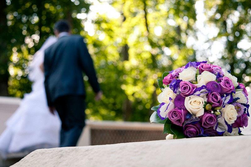 Beispiel: Brautstrauß, Foto: Die Blumenfabrik.