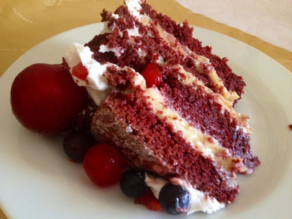Génoise red velvet recette by@waleska