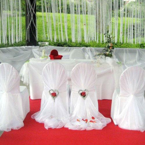 Beispiel: Elegante Dekoration für Ihre Trauung, Foto: Das Deko Team.