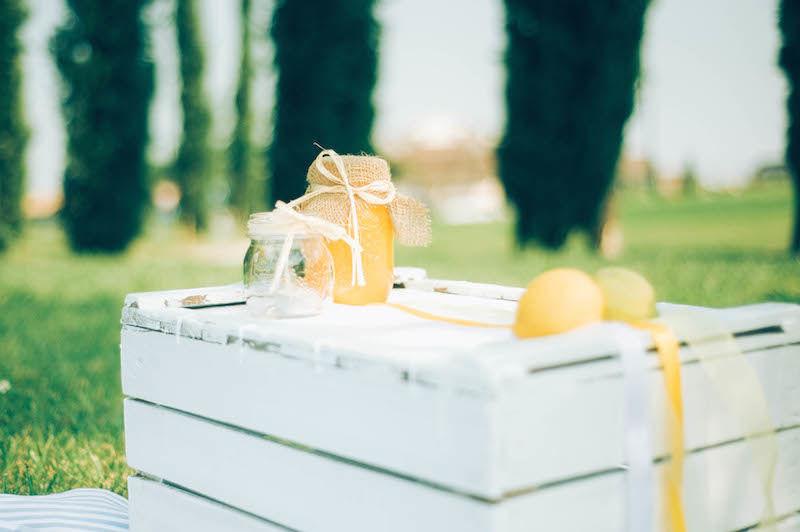 Matrimonio a tema limoni - angolo pic nic