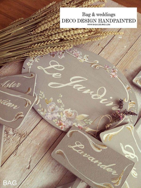 Carteleria personalizada. Detalle de la decoración que preparamos para la Boda N&L