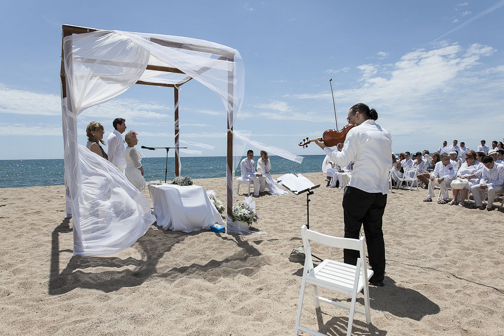 Violin solo boda civil playa