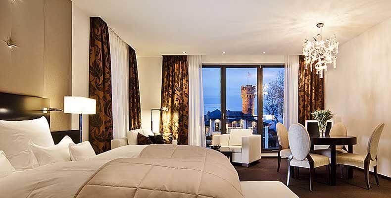 Beispiel: Hotelzimmer, Foto: Burg Schwarzenstein.