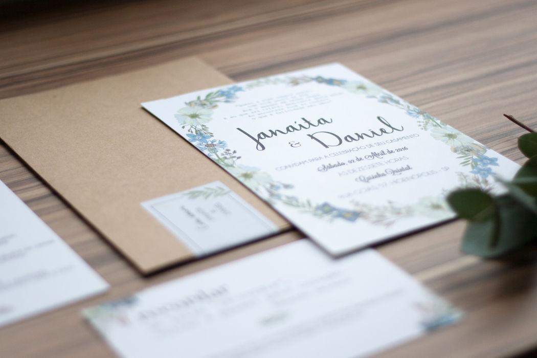 Convite Floral Parisiense - Jana e Daniel