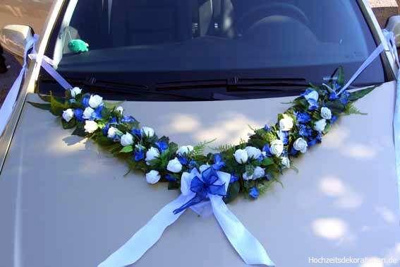 Beispiel:Autoschmuck, Foto: Hochzeitsdekorationen.de