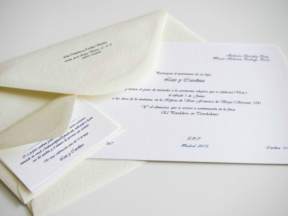 Invitaciones clásicas Instagram, FB y TW: @naraconnection www.naraconnection.com