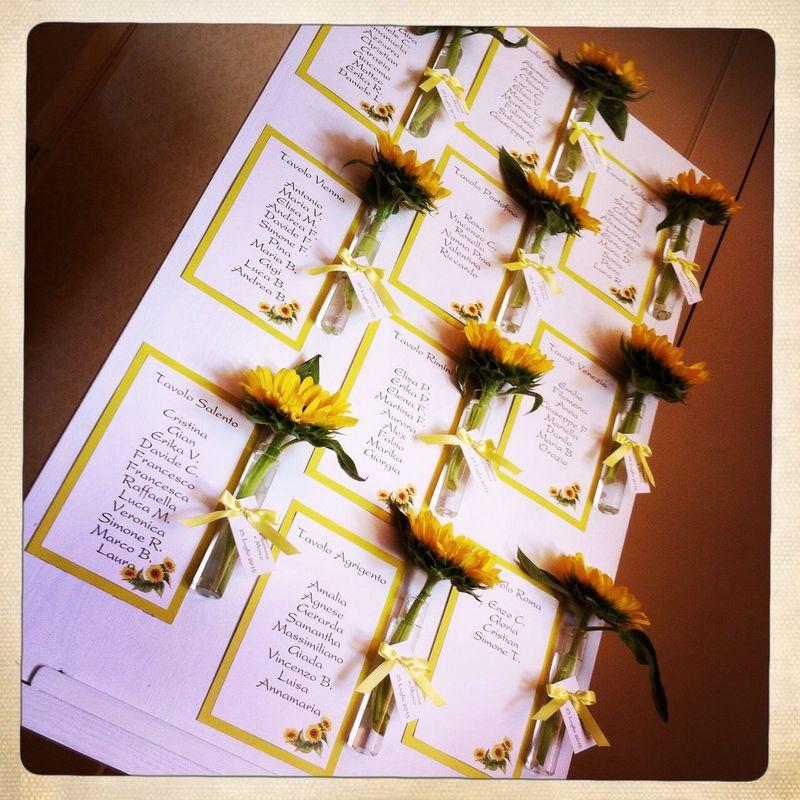 Tableau du mariage con giarsoli