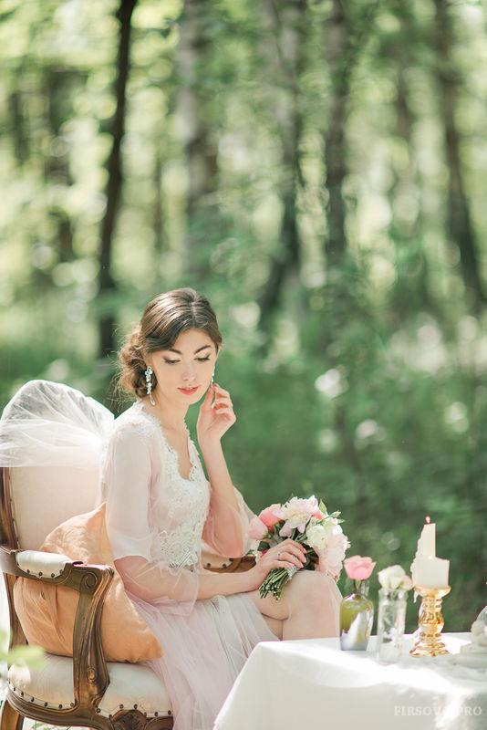 Прекрасная Юлиана. Утро невесты на природе.
