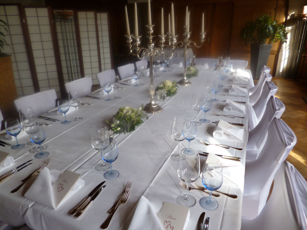 Beispiel: Hochzeitstafel, Foto: Restaurant Gemeindehaus.