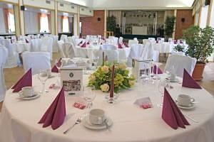 Beispiel: Tischdekoration, Foto: Hoffmannhaus Fallersleben.