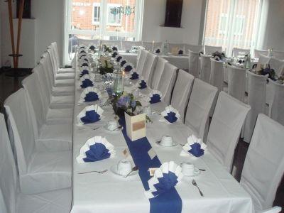 Beispiel: Hochzeitstafel, Foto: Hotel am Rosenplatz.