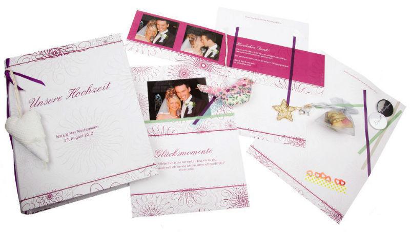 Beispiel: Gästebuch Hochzeit, Foto: familiensache.