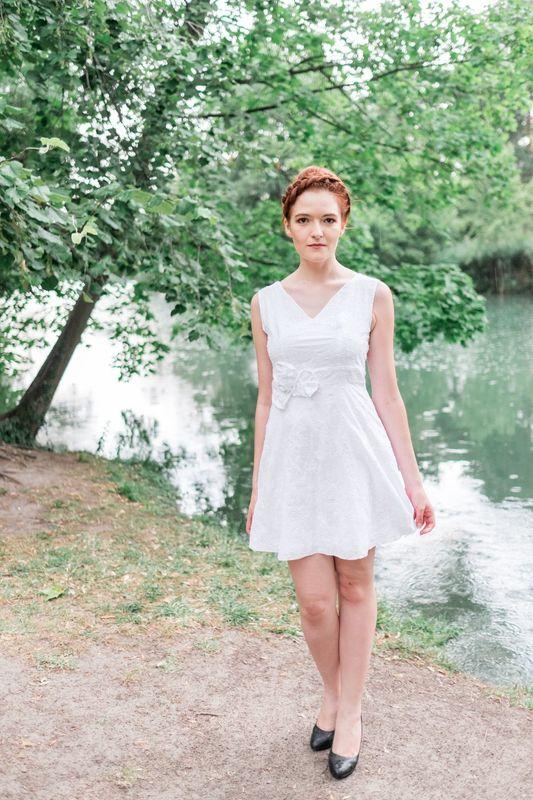 Kaa Couture modèle robe de mariée courte ZOE