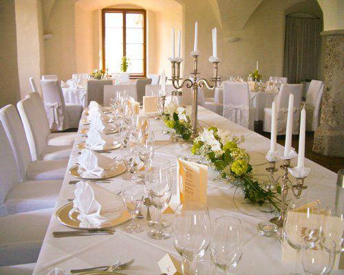 Beispiel: Hochzeitstafel, Foto: Schloss Mattsee.