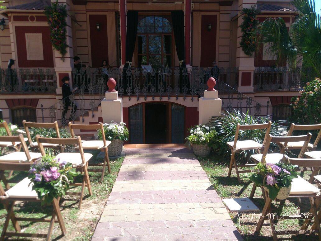 ceremonias en espacios diferentes