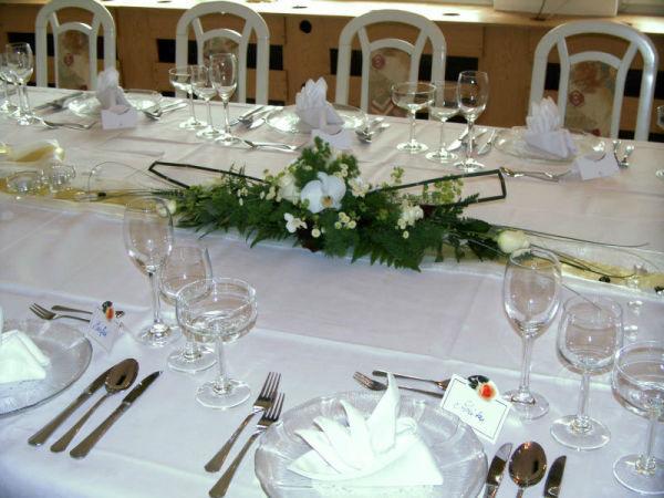 Beispiel: Tischdekoration, Foto: Restaurant Rosenhof.
