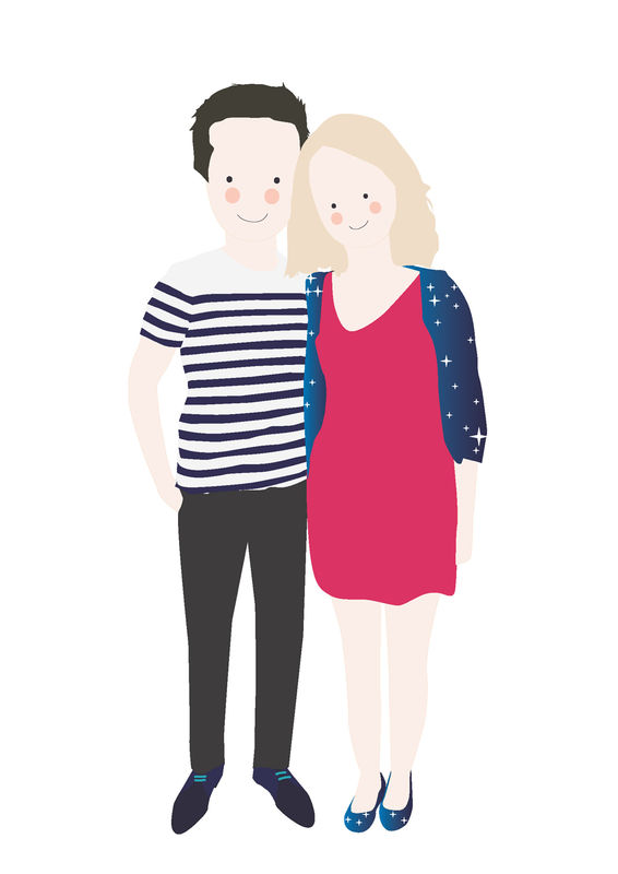 Illustration Maria & Gaëtan