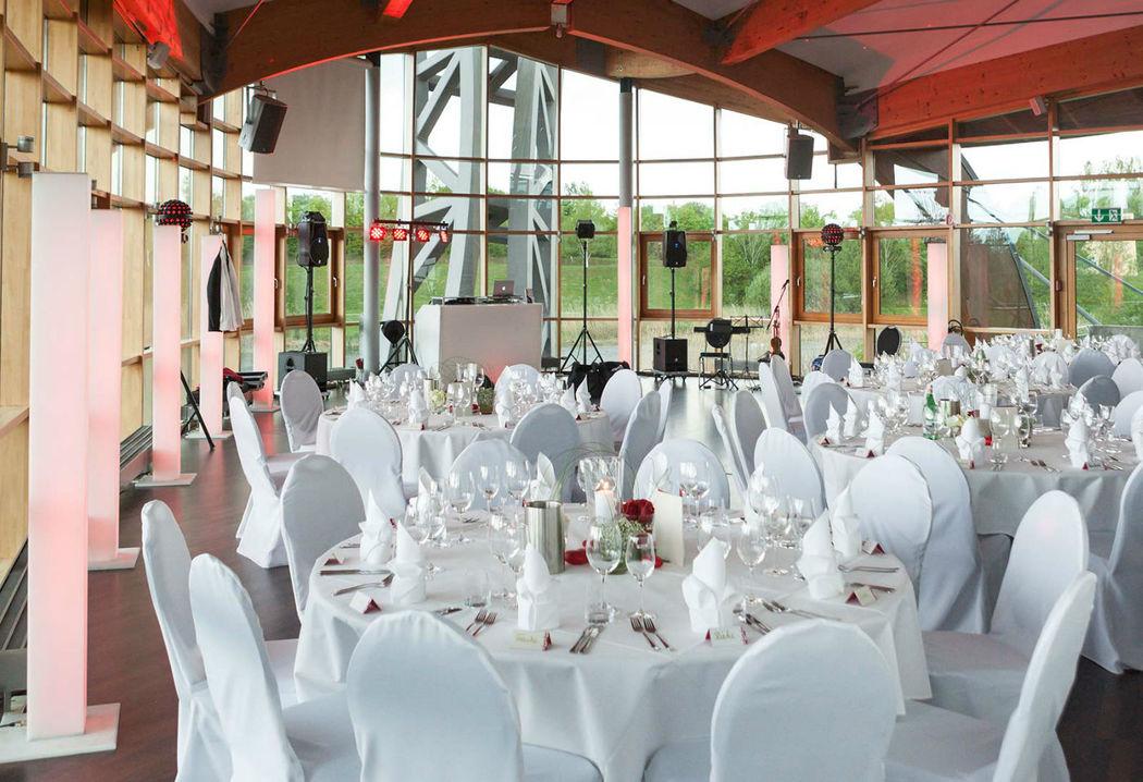 Beispiel: Hochzeitsbankett, Foto: Expowal.