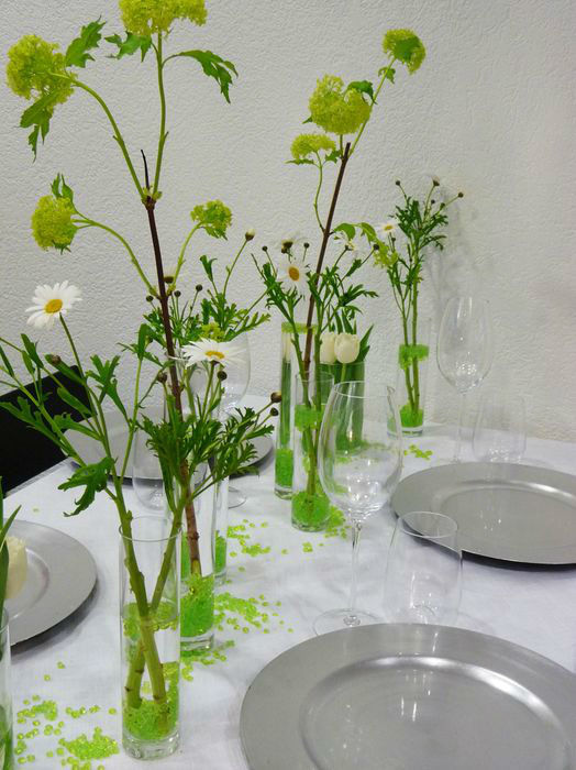 Beispiel: Tischdekoration, Foto: Blumenhaus Frei.