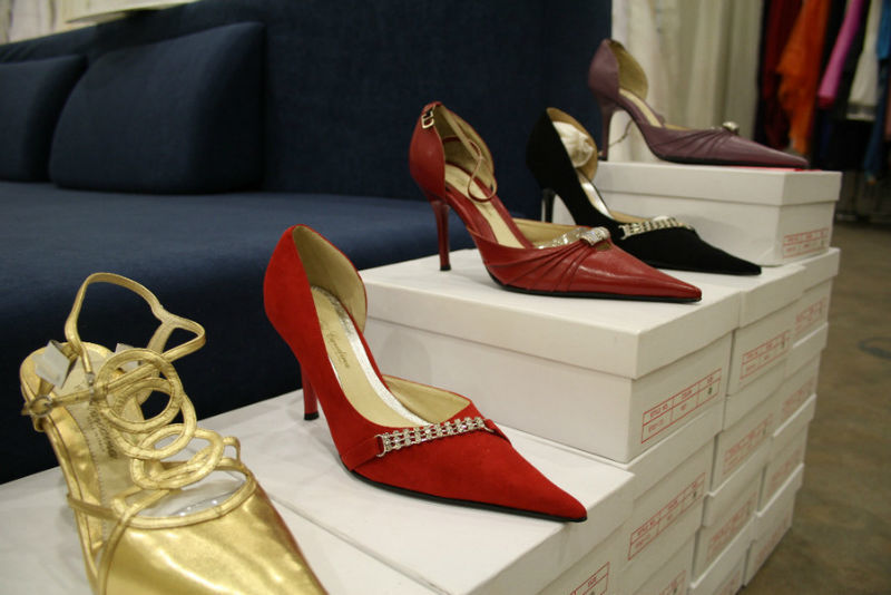 Beispiel: Große Auswahl an Schuhen, Foto: K. For Bride.