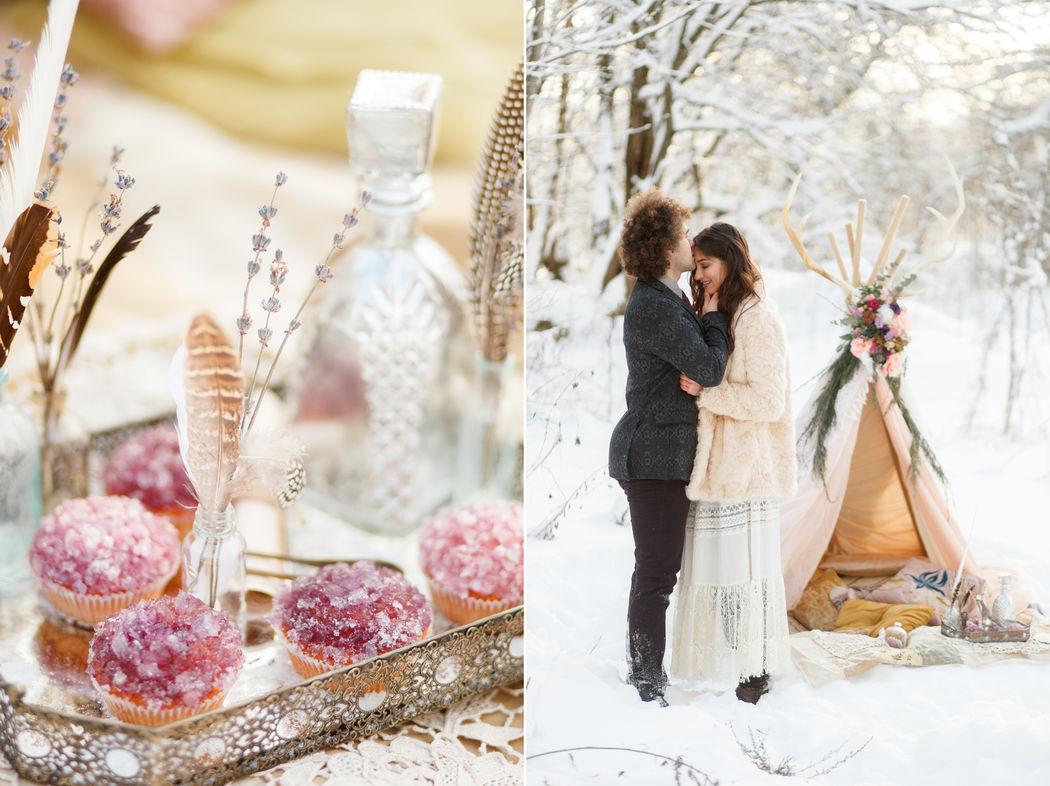 Зимняя Love story в стиле Бохо