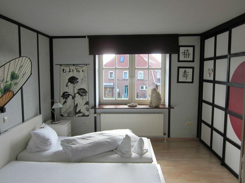 Beispiel: Zimmer Japan, Foto: Möhls Gasthof.
