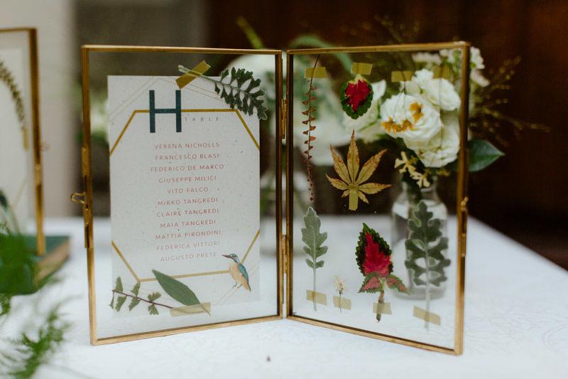 Tableau de Mariage: realizzazione di tableau botanico - foto di Erin & Gabri Photography
