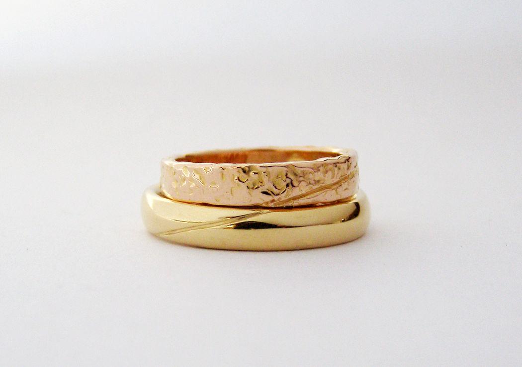 MIOeTUO - anelli in oro giallo e oro rosa