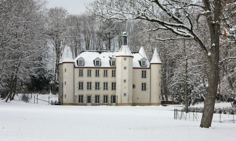 Château de la Motte sous la neige