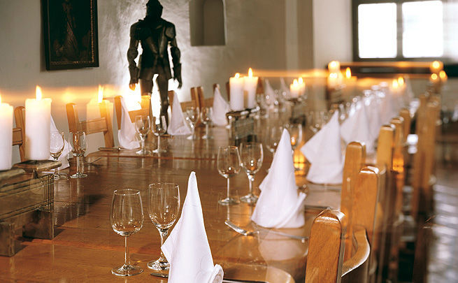 Beispiel: Tischdekoration, Foto: Burg Hasegg.