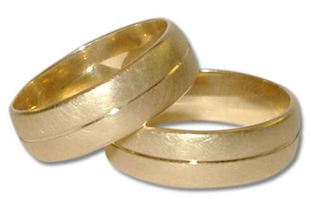 Beispiel: Trauring in Gold-Matt, Foto: Casa Amberes.