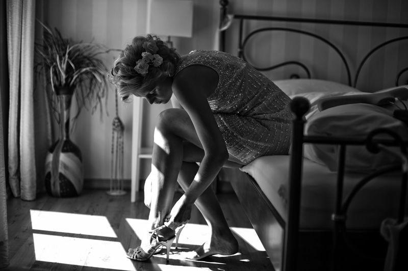 Beispiel: Braut vor der Trauung, Foto: Susanne Lencinas.