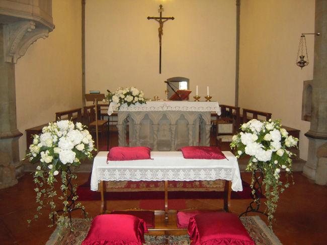 Addobbo chiesa in stile tradizionale