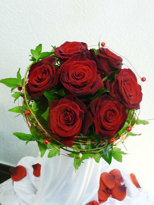Beispiel: Ihr Strauß zur Hochzeit, Foto: Blumenhaus Frei.