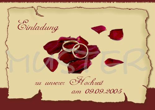 Beispiel: Hochzeitskarten im Onlineshop, Foto: Internet.