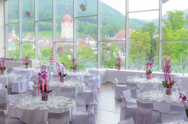 Beispiel: Tischschmuck, Foto: Schlosshotel Eisenstrasse.
