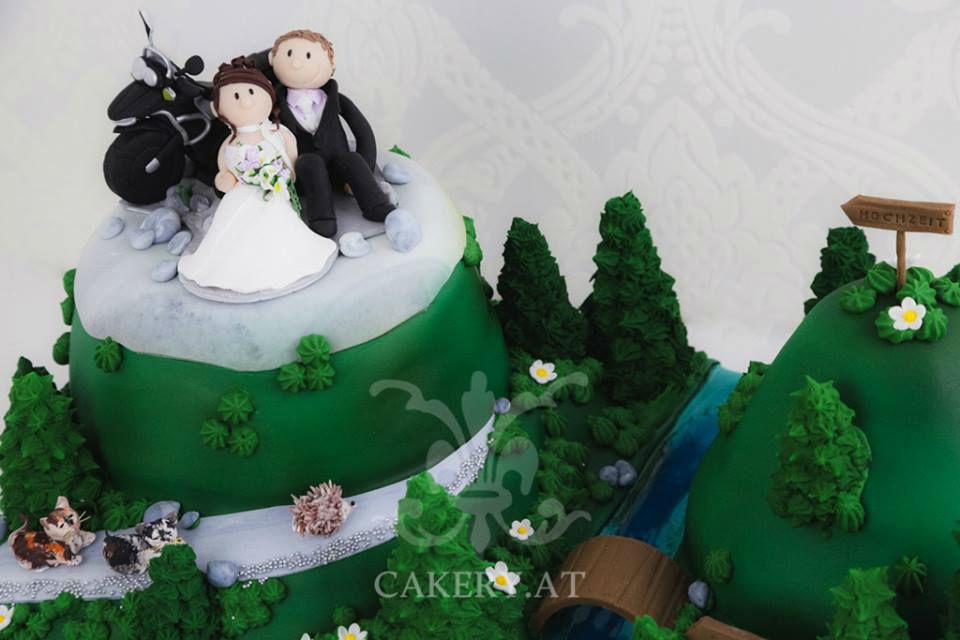 Beispiel: Persönliche Hochzeitstorten, Foto: Rita The Cakery.