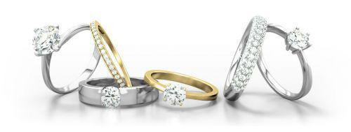 Beispiel: Trauringe, Foto: 21 Diamonds.