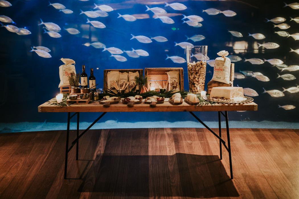 Mesa de quesos Oceanogràfic