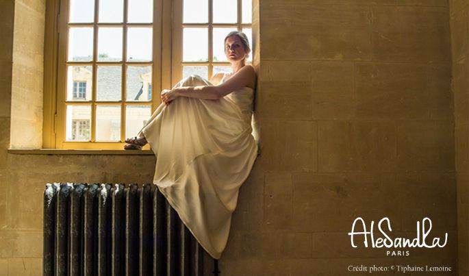 Alesandra Paris robe de mariée en satin de soie