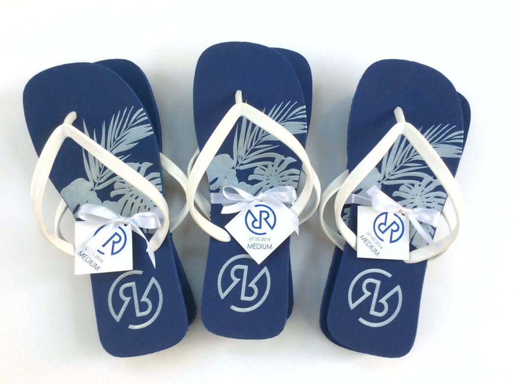 Sandalias con suela de color personalizadas