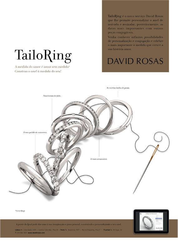 Tailoring , um serviço David Rosas que lhe permite personalizar o anel à sua medida. Experimente as infinitas possibilidades. | www.davidrosas.com