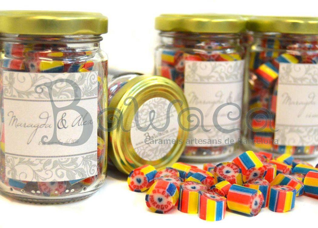 Caramelos personalizados en bote de 100 gr