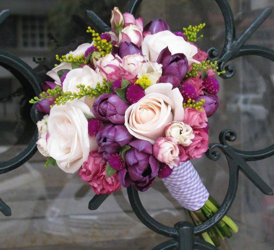 Bouquet de Noiva Rosas e Tulipas