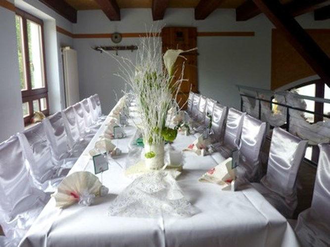 Beispiel: Hochzeitstafel, Foto: Restaurant Hofstall.