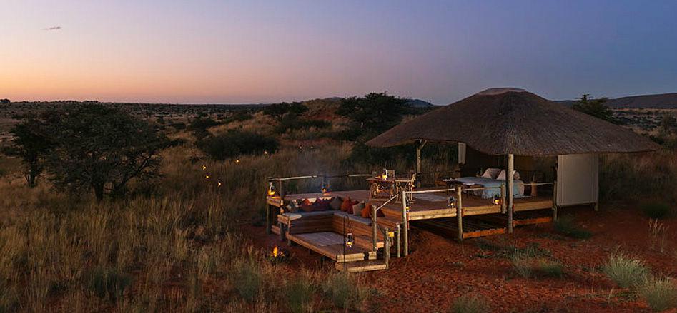 Sleep out romantique dans le Kalahari - Tswalu Malori