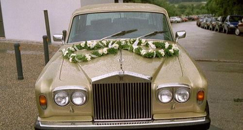Beispiel: Hochzeitsauto, Foto: Classic Car Chauffeur Service.