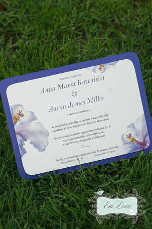 Eni Lorac, zaproszenia ślubne